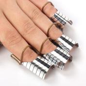BF Professional 10 Pcs Nail Art Reusable Blendable Forms UV Gel Acrylic Nail Art Tips Extension Tool CODE