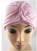 TOUCH Gadgets Full Head Turban Headwrap Indian Style Head Wrap Bandana Hat Hair Loss Chemo - Pink