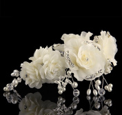 Exquisite Wedding Bridal Rhinestone and Pearl Flower Headpieces