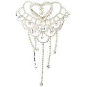 Fashion Prom Pageant Sophisticated 3-Heart Rhinestone Hair Comb Pin Silver