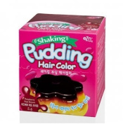 EZN Shaking Pudding Hair Colour Korean Beauty - Raspberry Red Brown