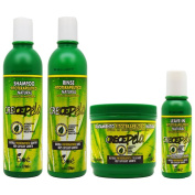"BOE Crece Pelo Fitoterapeutico Natural Shampoo & Rinse 350ml & Leave-in 120ml & Treatment 470ml ""Set"""