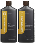 Every Man Jack 2-in-1 Daily Citrus Shampoo plus Conditioner for All Hair Types, 400ml, 2 pk