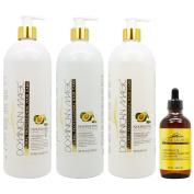 "Dominican Magic Nourishing Shampoo & Conditioner & Moisture Lock Leave on 950ml & Anti-ageing Scalp Drop 130ml ""Set"""