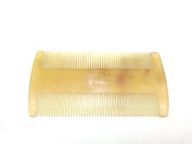 Time Roaming 100% Handmade Natural Horn Comb without Handle 8.9cm Pocket Comb, Narrow Tooth, Health & Beauty Comb, Sheep Horn Comb Double Sided