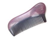 Time Roaming 100% Handmade Natural Wood Comb 12cm Pocket Comb, Narrow Tooth, Health & Beauty Comb, Black Buffalo Horn & Purple Heart Wood