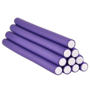 18cm Long Soft Twist Rollers Purple, 10 pieces