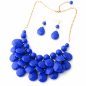 Tonsee Water Drop Style Bib Chunky Statement MultiLayer Necklace