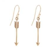 Small Arrow Dangle Earrings in Bronze, #6858