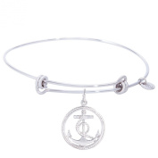 Rembrandt Anchor Charm Expandable Wire 'Balanced' Bangle