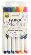 Euro Fabric Pens (Pack of 6) Permanent Markets for Clothing and Bags CE/EN Certified