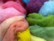 Magic Forest Shop, Organic Felting Wool. Magic/Fairy Wool, For Felting and Crafts 100g. Plant Dyed.