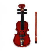 1/12 Dollhouse Miniature Wooden Violin Musical Instrument Toy