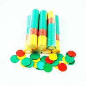 SmartDealsPro 3 Colour 3.8cm Plastic Counting Counters Bingo Poker Chips-Set of 100