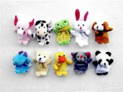 10 x Finger Puppets. Animal Shape. 10 Styles Per Set - Great for bedtime or play