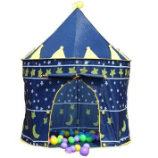 CHILDRENS BLUE POP UP CASTLE TOY PLAY TENT DEN CHILD KID GIFT IDEA HOUSE CHILD - Size