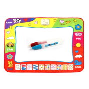 Finejo Water Drawing Painting Writing Mat Board + Magic Pen Doodle Toy Gift 78*58.5CM