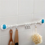 Flip Wall Strong Suction cup Absorption 6 Hooks Rack Hanger for bath Kitchen