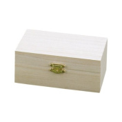 KnorrPrandell 12 x 18 x 7 cm FSC Wooden Treasure Chest, Natural