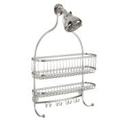 InterDesign York Lyra Jumbo Shower Caddy, Satin