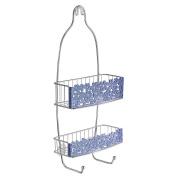 InterDesign Blumz Shower Caddy, Blue