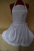 Fabrique Creations - Retro Vintage 50s Style Full Apron / Pinny - White