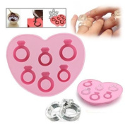 Pggpo Silicone Love Ring Shape Ice Cube Trays / Chocolate Mould