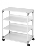 Durable System Multifunction/Printer Trolley 88 Grey WHD:750x880x430mm 3711/10