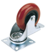 Draper 65519 100 mm-Diameter Polyurethane Castor Plate Fixing