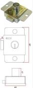 L & F 2207 7 Lever locker Lock