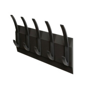 Acorn Linear Hat and Coat Wall Rack with Conclealed Fixings 5 Hooks Graphite Ref 319875