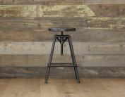 Bistro Style adjustable Stool urban vintage industrial rustic - Pewter