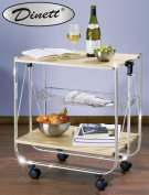 WENKO 713001500 Foldable Catering Trolley Dinett, Maple