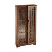Southern Enterprisesi Home Office Storage and Media Cabinet with Varnish, Oak