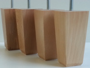 4 x WOODEN FEET REPLACEMENT FURNITURE LEGS 135mm HEIGHT FOR SOFAS, CHAIRS, STOOLS M8