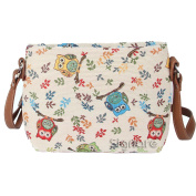 Signare Womens Tapestry Fashion Shoulder Handbag Across Body Messenger Bag Owl Design