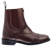 Toggi Augusta Child's Zip-up Leather Jodhpur Boot In Brown, Size