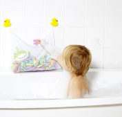 Bathtime Buddies Bath Toy Bag With Duck Suction Cups