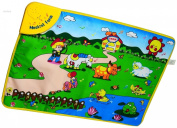WolVol Baby Play Mat Musical Animals & Farm (70cm x 50cm ), Touch,Crawl,Sound,Visual - Great Gift Toy for 1 Year Old