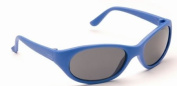 Baby Blue Toddler Sunglasses Soft Durable Plastic Frame and Black Smoked Lenses Providing Full UV 100% Protection Ideal for 1 to 3 Years
