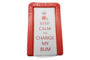 Baby Changing Mat Keep Calm And Change My Bum - Red