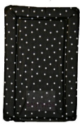 SUPER SOFT PADDED WATERPROOF BABY CHANGING MAT - BLACK WITH WHITE SPOT