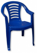 Blue Childrens Plastic Chair Nursery Set Outdoor Tea Party Toy Garden Roleplay