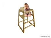Oypla Stackable Kids Baby Wooden Feeding Commercial Home High Chair - Natural