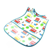 HuaYang Cartoon Style EVA Plastic Infant Bib Waterproof Baby Pinny 0-6 years Feeding Care(Random Colour)