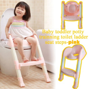Babyhugs - Baby Toddler Potty Training Toilet Ladder Seat Steps Assistant Potty For Toddler Child Toilet Trainer