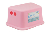 """""""First Steps"""" Kids Step Stool With Rubber Grips Handy for Sink in Pink"""
