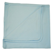 BabywearUK Baby Blanket - Cotton - Sky blue - British Made