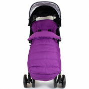 XXL Large Luxury Foot-muff And Liner For Maclaren Techno XT - Plum