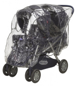 Playshoes Baby Travel Universal Pushchair Tandem Duo Twin Rain Cover